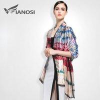 artistic scarves - VIANOSI European style Brand Scarves and Shawls for Women Fashion Design silk Scarf Artistic Style Bandana VA006 su
