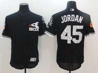 Wholesale 2017 Spring Training Flex Base Jerseys White Sox Jersey Black Color Stitched New Baseball Jerseys Size Mix Order All Jerseys