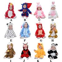 al por mayor mamelucos para bebés-23style Spring Autumn Baby Clothes Ropa de bebé de franela Ropa de dibujos animados animal Jumpsuit Girl Rompers ropa de bebé al por mayor