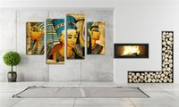 ancient egypt pictures - LK4235 Panel Canvas Paintings Ancient Egypt Portrait Wall Art Decoration Modern Pictures Print On Canvas For Home Bar Hub Kitchen Unfra