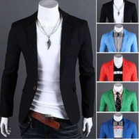 9 Design Plus Size Mode Hommes Slim Fit élégant formel Casual Un Button Suit Blazers Coat Veste CL156