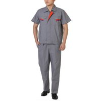 Wholesale Lstest Version Short Sleeve Work Uniform Clothes Welding Vehicle Repair Overall Superior Full Size Grey Color Cotton Best Selling