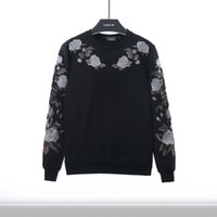 big o model - 2017 autumn and winter new big name runway models roses embroidery sweater tide couple lovers large yards sweater