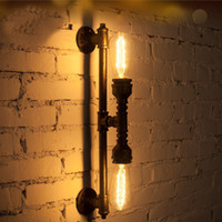 Wholesale Vintage Bronze Iron Pipe Wall Lamp Luxury Industrial Wall Light Fixture Loft Bar Led Wall Sconces Lamparas