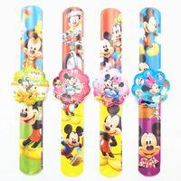 baby boy bracelet - Cartoon Mickey Slap Bracelets Kids birthday party supply gift for girl boy souvenirs baby shower favors
