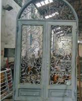 Wholesale Wrought Iron Entry Door Exterior French Door Martial