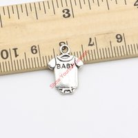 Fashion baby clothes crafts - Tibetan Silver Plated Baby Clothes Charm Pendants for Jewelry Making DIY Handmade Craft x12mm
