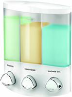Wholesale Euro Series AVIVA TRIO Bath Soap Shampoo Conditioner Shower Bathroom Dispenser