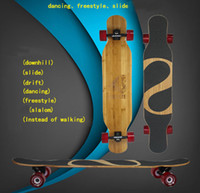 Wholesale FS LB46 freestyle dancing longboard skateboard with Bamboo Canadian maple deck