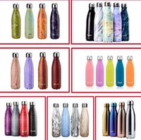 Wholesale Swell thermos vacuum flask Expansion bottle of coke bottle coffer cup sports kettle vacuum marble texture flask bottle DHL