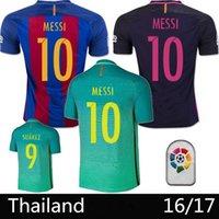 Wholesale Thai version of Suarez jersey Camisas Purcell Marcel Messi Iniesta football shirt Camiseta de FUTBOL