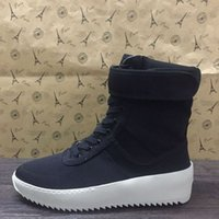 Wholesale 2016 Hot sale Christmas FEAR OF GOD fog Military boot Sneakers fog Boot Fog Kanye Nylon running shoes