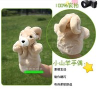 bedtimes stories - Candice guo plush toy stuffed doll goat sheep lamb educational game sleep bedtime story pacify hand puppet baby birthday gift