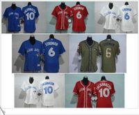 Wholesale Toronto Blue Jays Marcus Stroman Edwin Encarnacion women s baseball jerseys shirts Stitched Logo Embroidery Size S XXL
