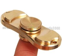 Wholesale 2017 NEW Hand Spinner Decompression Toy for Office Workers Made of Fine Copper Metal Fidget Finger Rotation Toy MYY