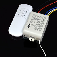 Wholesale 3 Ways Sections ON OFF Port Smart Digital Wireless Remote Control Switch AC110V AC220V Hz Hz Input Controller for Light Lamp