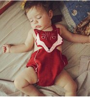 TuTu baby file - 2017 INS baby girl kids infant toddler embroidered fox cotton rompers onesies open files Jumpsuits suspender pp pants shorts