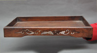 antique wood tray - christmas Old Chinese Antiques huanghuali wood Inlay shell hand carved Lucky plate tray halloween