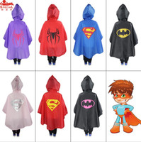babies brands coat - Kids Superhero Raincoat Superman Batman Rain Coat Baby Spiderman The Avenger Raincoat Waterproof RainCoat Super Hero Poncho Inch B190
