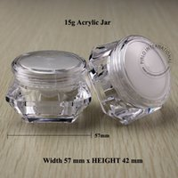 Glass acrylic canisters - 15g Acrylic Cream Jar Bottle Plastic Cosmetic Container Packaging Makeup Canister Sample Mask Sub bottling With Screw Lid