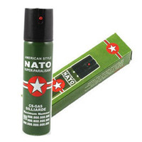 Wholesale 2017 Hot Sell NEW NATO CS GAS ML TEAR GAS PEPPER SPRAY sex maniac Men Women Security self defense Tool
