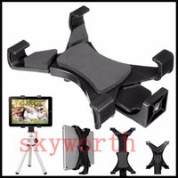 Wholesale Universal Tablet Stand Tripod Mount Holder Bracket For quot quot Pad iPad Pro Air Mini Samsung Tab E S S2 SONY