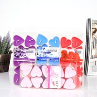 Wholesale 14g Heart Tea Candles set Burning hours Wedding Party Decoration Home Colorful Party Wedding Tea Candles