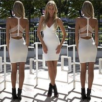 Wholesale Cheap ladies Sexy backless halter dress irregular after LYQ0027