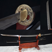 bamboo katana swords - Full Handmade Japanese Katana Sword Samurai Sword carbon steel Blade Practical Sharp can cut bamboo tree