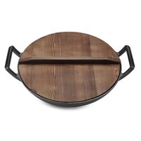 Wholesale Chef s Classic Cast Iron cm Round Ears Fry Pan with Wooden Lid