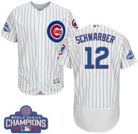 Wholesale Hot Sale Men s Chicago Cubs Kyle Schwarber White World Series Champions Baseball Jersey