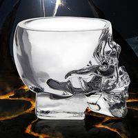 beer brandy - Creative Skull Vodka Cup Glass Crystal Cup