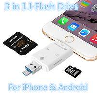 3 en 1 iFlash Drive USB 3.0 Lecteur de carte Micro SD TF pour iPhone 6 7 Samsung S6 S7 Edge Smart Phone