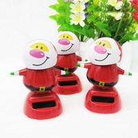 Wholesale Wonderful Gift Beautiful Decoration Solar Powered Smiling Man Figure Swing Ornamentation Green Energy Family toys