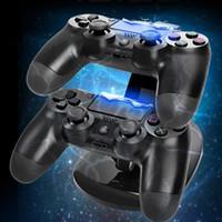 Pour XBOX ONE PS4 contrôleur sans fil Chargeur Support de station d'accueil xbox un manette de jeu ps4 LED double support de charge USB contrôleur de jeu couleur 2 USB