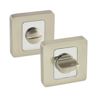 Wholesale EW07NBCP Bathroom Door Thumb Turn and Release WC Door Rosette Brush Nickel Chrome