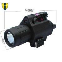Wholesale in1 Hunting Tactical CREE LED Flashlight LIGHT Red Dot Laser Sight Combo for Shotgun Glock Pistol Rifle