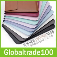 apple laptops protectors - For Apple Macbook Air Pro Retina Touch Bar inch New Leather Sleeve Protector Envelope Bag Cover Case