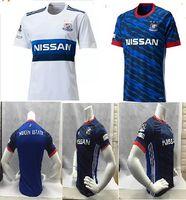 Wholesale Thailand top J League Yokohama Marinos home blue away white Running Jerseys