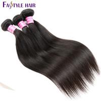 arrival hair braids - Fastyle New Arrival Mink Brazilian Hair Bundles Remy Straight Human Hair Extensions Peruvian Malaysian Indian Human Braiding Hair Weave