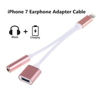 Wholesale New Phone Earphone in lighting Adapter for iPhone plus Data Cable Adapter Cords Cell Phone Accessories With DHL free shiping