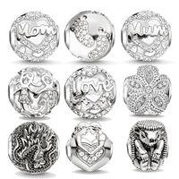 Wholesale Hollow out balls dragon hedgehog shape beads fit for pandora bracelet necklace for women new arrival design diy crystal beads