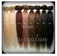 al por mayor extensiones de cabello marrón reales-18