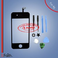bar kits - For iPhone Black Touch Screen Digitizer Replacement with Tools Kit