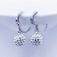 Wholesale Hotsale Bridal Jewelry Unique Crystal Silver Wedding Eardrop Prom Party Event Earbob Evening Accessories Rhinestone Earrings
