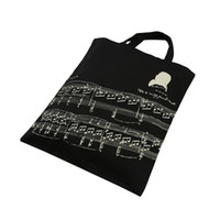 Wholesale 100 New Style Pure Cotton Handbag Tote Bag Shopping bags With Cute Music Sheet