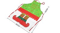 Wholesale NEW BARLEY Christmas Apron Santa Clause Apron Decoration For Kitchen Bar Dinner Table