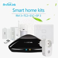 Wholesale Smart Home Automation Kit Broadlink S1 S1C TC2 Gang Wifi Light Switch Smart RM2 RM Pro Universal Intelligent Controller SPmini