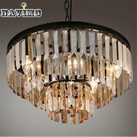 Precio de Casa comedor-Lámpara de cristal de la lámpara de la lámpara de la lámpara de la suspensión de la lámpara de la lámpara de la lámpara de la lámpara cristalina negra europea de la vendimia para el comedor