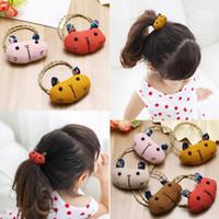 baby bear band - Children s Hair Barrette Tousheng cute bear little girl to baby girls not to hurt the hair elastic headdress hairpin